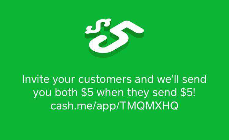 Try the Cash app using my code and we'll each get $5! TMQMXHQ  cash.me/app/TMQMXHQ